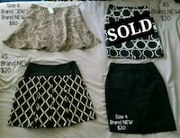 Size 6, Size XS and Size 4 Brand NEW Skirts