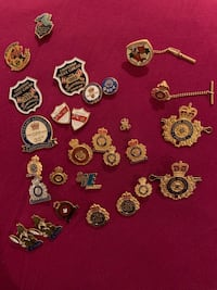 Collector police pins lot