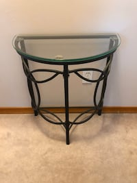 Glass Top Metal Side Table  Lincoln, L0R
