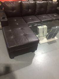 black leather tufted sectional sofa Toronto, M9V 4J9