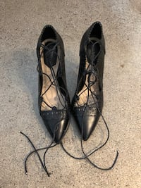 Leather Heels with Tie Up  Toronto, M5A 3J7