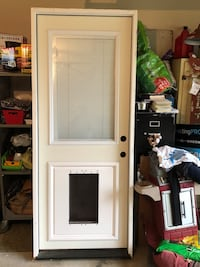 white wooden 2-panel door Memphis
