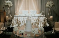 Wedding head table skirting oyster colour * gorgeous* Vaughan, L4L 8E5