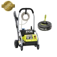 Ryobi 1,700-PSI 1.2-GPM Electric Pressure Washer with 11 in. Surface Cleaner Garland, 75041