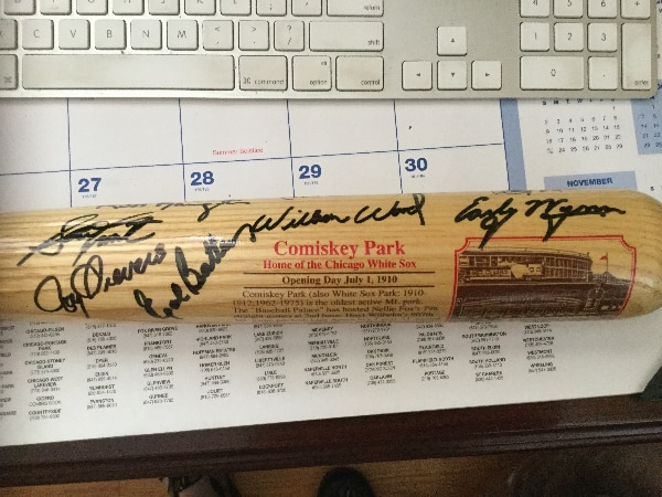 COMISKEY PARK CHICAGO WHITE SOX  COOPERSTOWN LIMITED EDITION LIMITED EDITION BAT