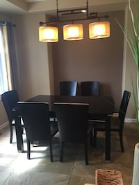 Former showhome dining room set - table and 9 upholstered chairs!  , T7X 2C2