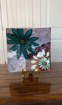 Painting- decorative plate w/ stand