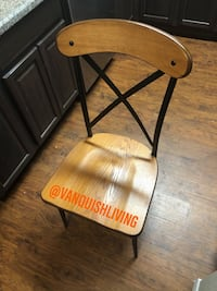 NEW SOLID WOOD & METAL DINING TABLE ROOM CHAIRS