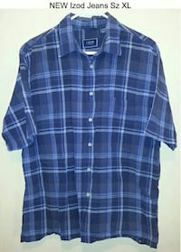 New IZOD JEANS Button Up Shirt Sz XL