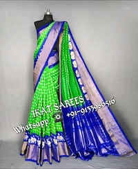 women's blue and green dress Bhoodan Pochampally, 508284