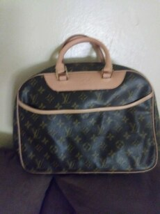 brown Lous Vuitton leather tote bag