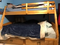 Solid Wood, Single - Double Bunk Bed. Need Gone ASAP!!! LONDON