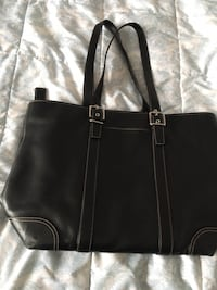 Coach Black leather handbag 589 mi