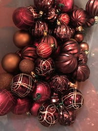 Christmas ornaments- 68 peices