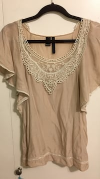Mango size small blouse with lace Vancouver, V5P 3L7