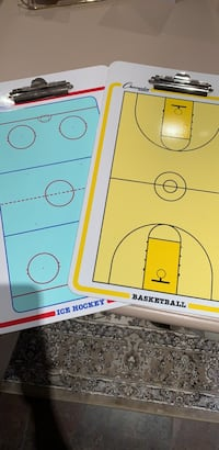 Hockey and Basketball Coaching Whiteboards/clip board