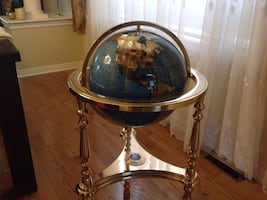 Globe  Gemstone Floor Stand
