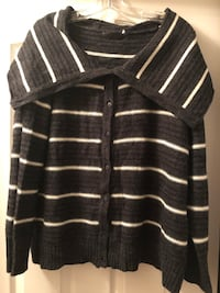 Size 2X ModCloth cardigan with shawl/cowl collar Ashburn
