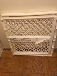 white and gray safety gate