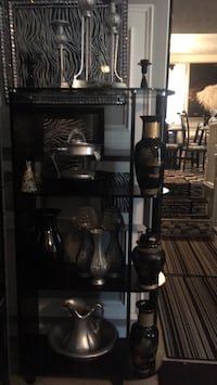 One nice black shelving unit with four shelves Fayetteville, 28314