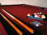 Northern red oak pool table by goldenwest billiards