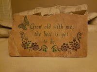 Grow Old with me - Beautiful heavy nice stone sign Henderson, 89074