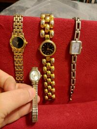 two round silver analog watches with link bracelets Cleveland, 30528