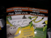 Cursive learning workbook for kids  King of Prussia