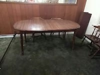oval brown wooden table with two chairs dining set San Jose, 95126