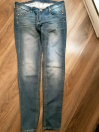 blue denim straight-cut jeans Montreal East