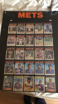 "New York Mets Baseball Sports Cards ""85-86"" Team Framed Dix Hills, 11746"