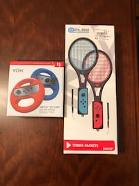 Nintendo Switch Racing Wheels and Tennis Rackets. Maybe used once Bartlett, 60103