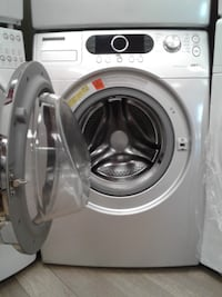 white Samsung front-load clothes washer null