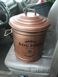 Large dog food holder container