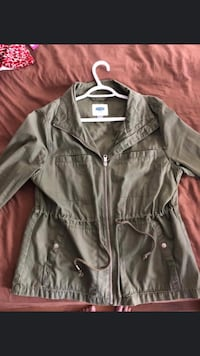 Green jacket with drawstring in size Large (old navy)