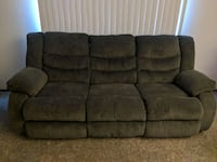Reclining Sofa Couch, gray West Des Moines, 50266