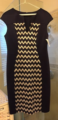 Women's purple and gold chevron printed dresse