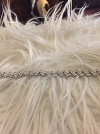 silver diamond embellished accessory