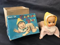 Antique crawling baby key wind up toy w box made in Japan. Toys Ottawa, K0A
