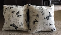 White and black throw pillow St. Albert, T8N