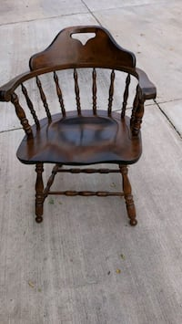 vintage Amish  wooden chairs