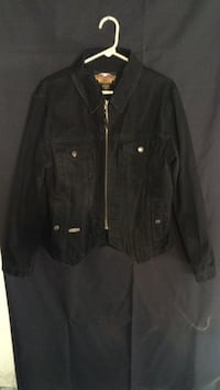 Sz. L women's black denim harley davidson jacket West Allis, 53214