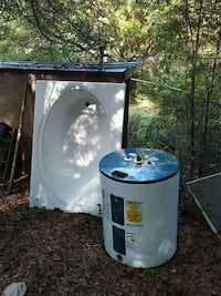 white and blue water heater 820 mi
