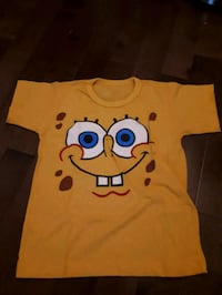 yellow and blue Minion print crew-neck shirt Montréal, H3E 1S4