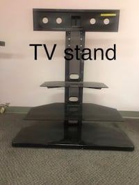 black wooden TV stand with mount 奥罗拉, 80012