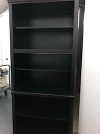 Black wood bookshelf  45 km