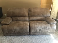 brown suede 2-seat sofa Calgary, T3M 1A8