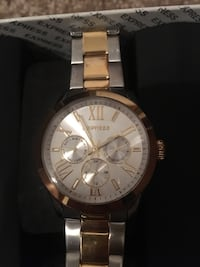 Express women's silver and gold watch