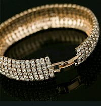 Two tone. Sterling silver and cz. Cuff bangle.  York, 17406