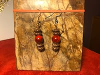 Red and Copper Earrings  Gulfport, 39503